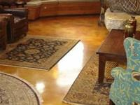Tan living room concrete floor