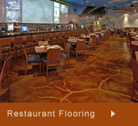 Photos of restaurant concrete floors