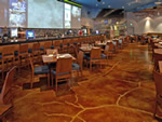 Restaurant concrete floors