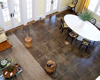 Rustic dark brown concrete floor