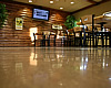 Light brown commercial polished concrete floor